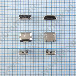 Разъем Micro USB 2.0 - B type - Horizontal - 5 pins - 2.4mm profile - USB3065